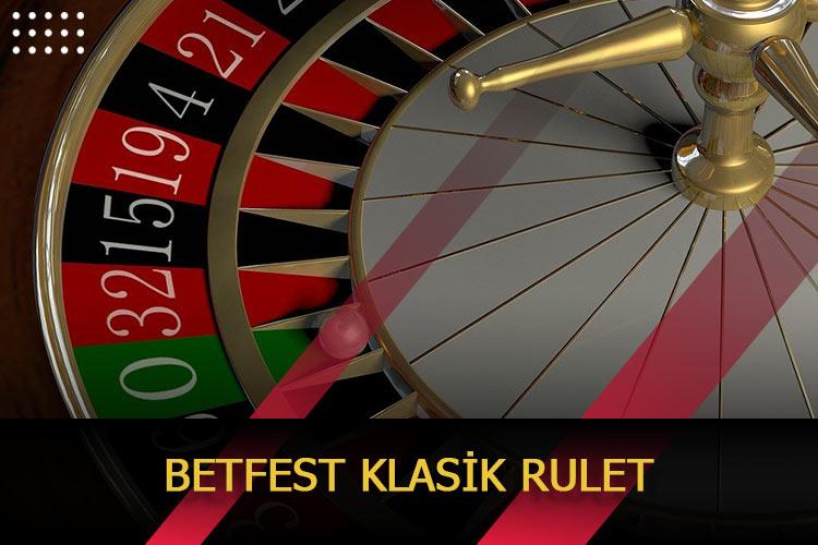 Betfest Klasik Rulet